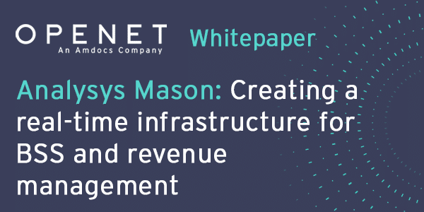 Analysys Mason – Creating a real-time infrastructure for BSS and revenue management