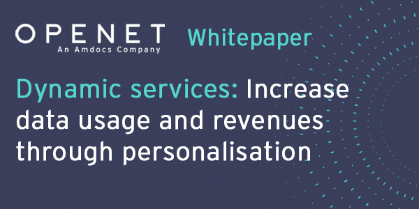 Dynamic services: Increase data usage and revenues through personalisation