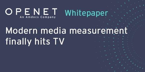 Modern media measurement finally hits TV