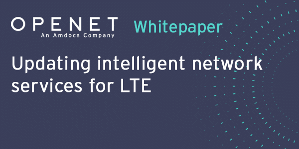 Updating intelligent network services for LTE